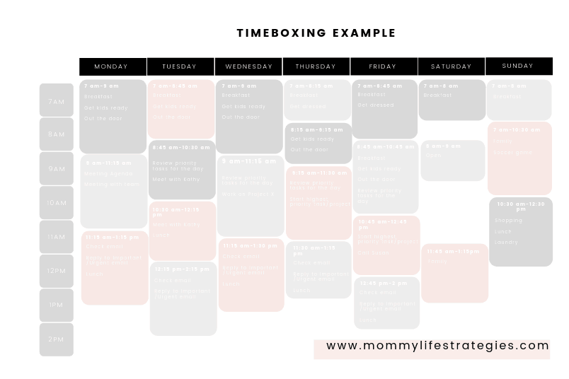 Timeblocking example