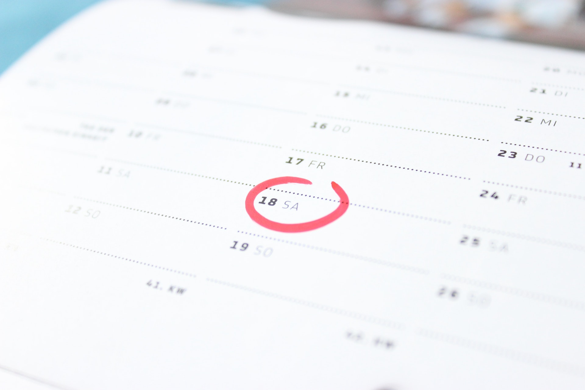Plan with your calendar