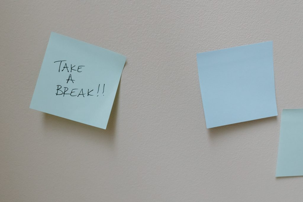 post it notes reminder