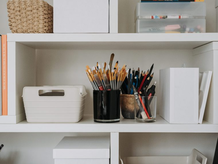 image of an organized shelf