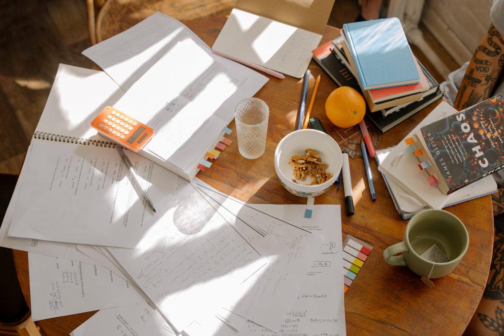 breakfast at kitchen table