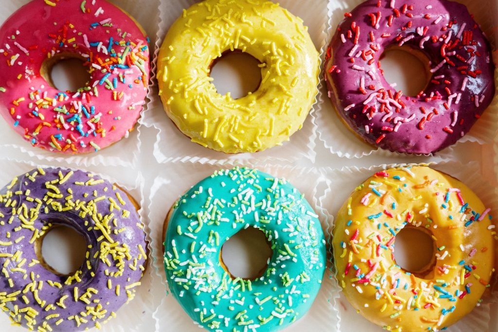 image of colorful donuts