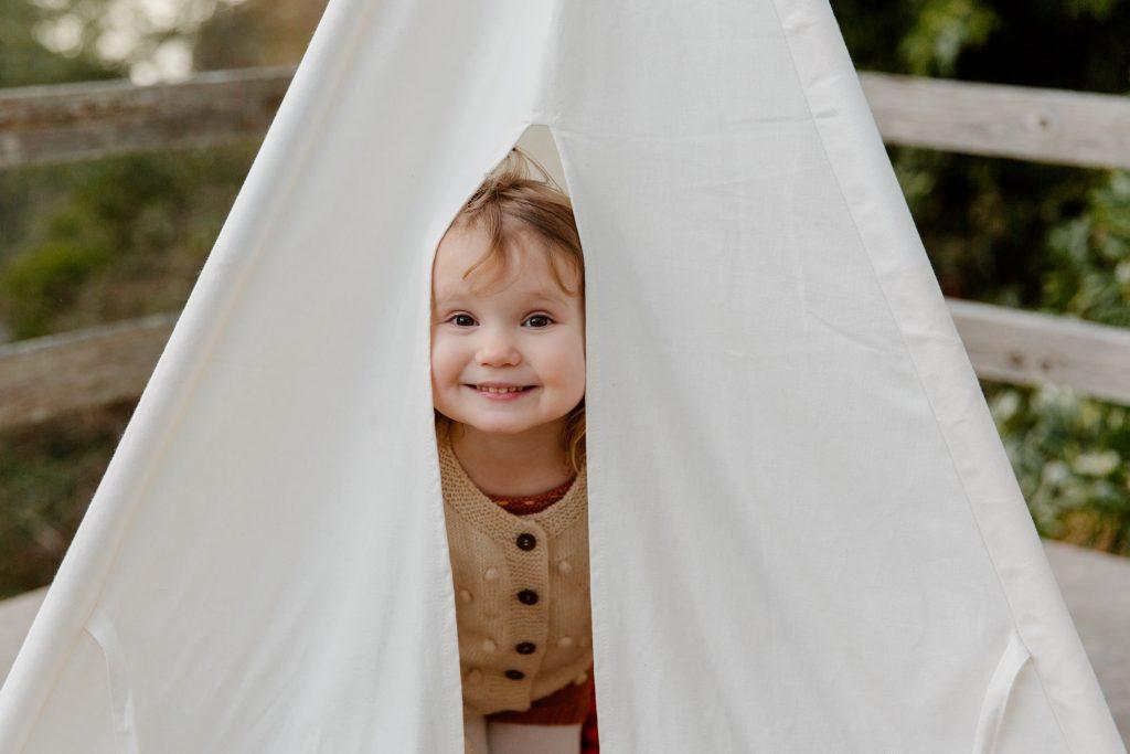 image of toddler playing